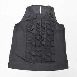 The Limited Gray Ruffle Ribbon Top L.           A6